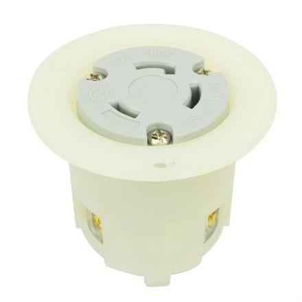 Superior Electric YGF039F Twist Lock Flange Receptacle 3 Wire, 30 Amps, 250V, NEMA L6-30R