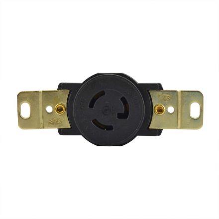 Superior Electric YGP022F Twist Lock Wall Mount Electrical Receptacle, 3P 15A 277V - NEMA L7-15R
