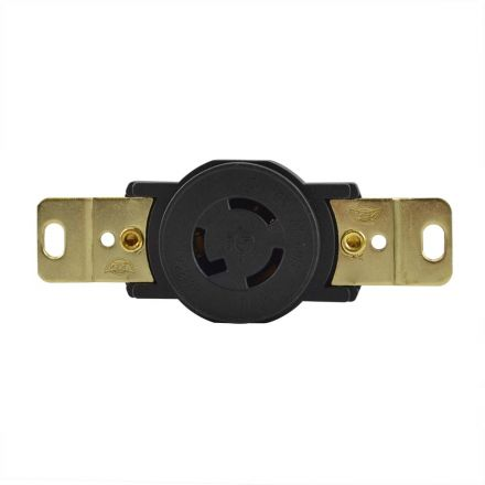 Superior Electric YGP029F Twist Lock Wall Mount Electrical Receptacle, 3P 15A 125V - NEMA L5-15R