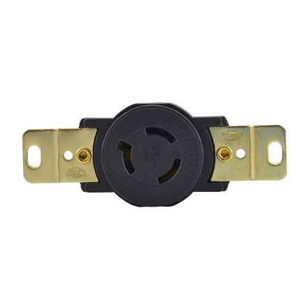 Superior Electric YGP030F Twist Lock Wall Mount Electrical Receptacle, 3P 15A 250V - NEMA L6-15R